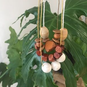 Minimalist wooden bead necklaces